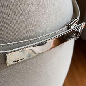 Salvatore Ferragamo designer white ladies belt